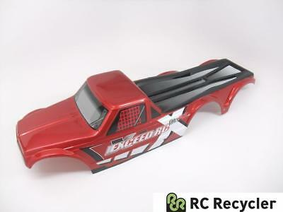 Exceed RC 6x6 Mad Torque 1/8 Scale Red Painted Super Crawler Body