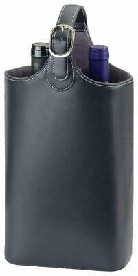 Insulated 2 Bottle Wine Carrier made from Split Leather Express Courier included