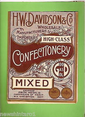 #D152.  MIXED CONFECTIONERY LABEL FOR H.W. DAVIDSON & Co.