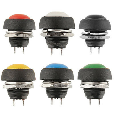 12V Momentary Push Button Switch OFF Car Auto Autos Vehicle Green Dashboard