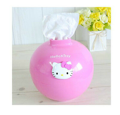Hello Kitty Pink Tissue Box Cover Case Paper Roll Holder Living Room Decor Bath