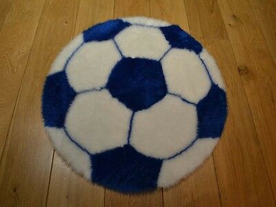 New Blue & White Football Shaped Small Size Rugs Fluffy Bedroom Floor Mats Cheap