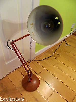Lovely Large Vintage Red Extendable Lamp Fully Working  Retro Industrial