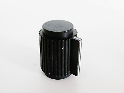 10 Pcs Black 6mm Knurled Shaft 15/64 Inner Dia Potentiometer Control Knobs Rogan