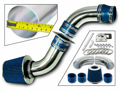 """BLUE 2.5 Inches 2.5/"""" 63mm Inlet Cold Air Intake Cone Dry Filter For GMC"""