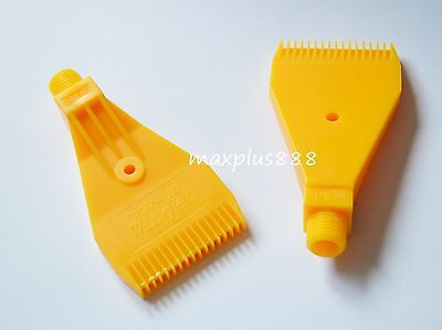 ABS Yellow Air Blower Air Nozzle Air Knife 1/4'' H1 air blowing comb type 5pcs