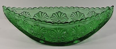 L. G. Wright Emerald Green Boat Shape Shell Dish 1940's * Free Shipping Usa *