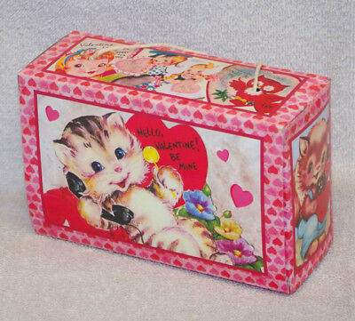 Vintage Style Valentine's Candy Box - Bethany Lowe - Kitten - New!