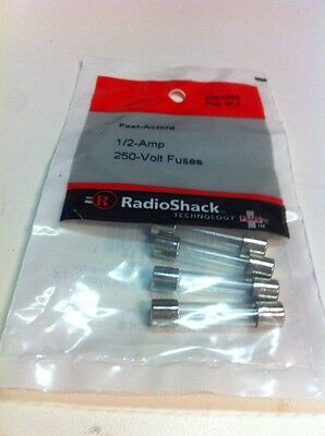 Fast-Acting 1/2-Amp 250-Volt Fuses #270-1003 By RadioShack