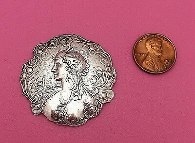 BEAUTIFUL ANTIQUE SILVER PEACOCK GODDESS-1 PC(s)