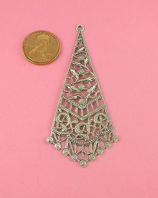 VINTAGE DESIGN ANT SILVER PLATED BRASS FILIGREE DROP - 1 PC(s)