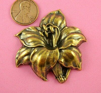 VINTAGE DESIGN ANT BRASS TIGER LILY-1 PC(s)