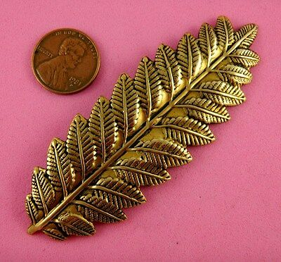 VINTAGE DESIGN ANT BRASS CLOSED LEAF FROND - 1 PC(s)