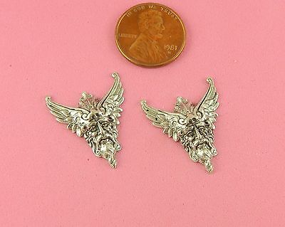 SMALL VINTAGE DESIGN ANT SILVER PLATED BRASS VIKING KING - 1 PC(s)
