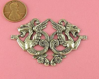 ANT SILVER PLATED BRASS OX TWIN CHIMERA DRAGON DESIGN - 1 PC(s)