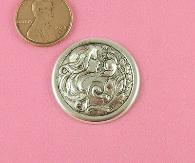 ANT SILVER OX SMALL ART NOUVEAU FLOWER MAIDEN - 1 PC(s)