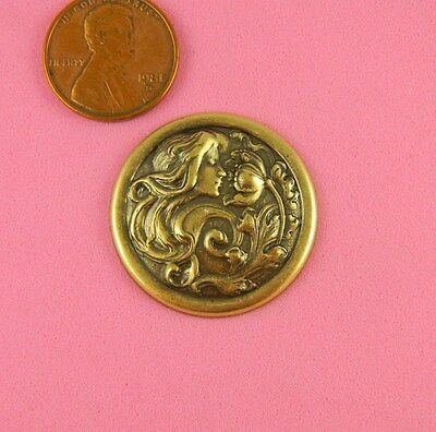 ANT BRASS SMALL ART NOUVEAU FLOWER MAIDEN-1 PC(s)