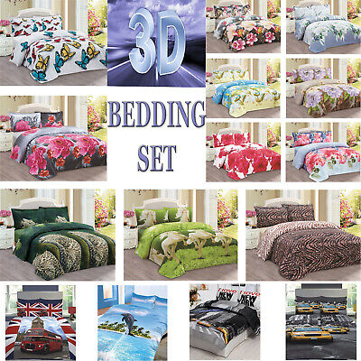3D Effect Design Duvet Sets Quilt Cover Bedding With Pillow Cases Photo Print
