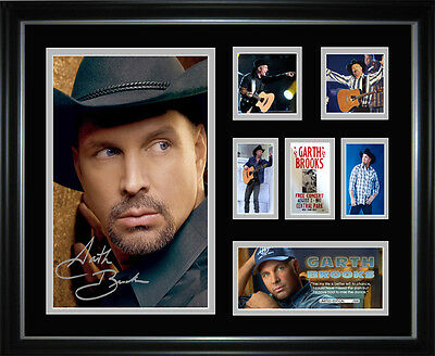 New Garth Brooks Signed Framed Memorabilia