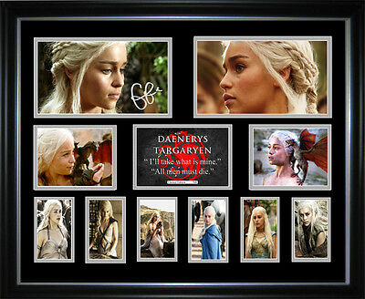 New Emilia Clarke Signed Framed Memorabilia