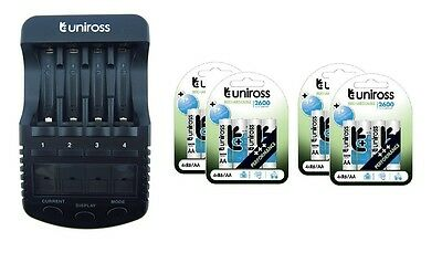 UNiROSS ULTIMATE INTELLIGENT SMART Charger AA AAA+ 16 x AA 2600 Batteries