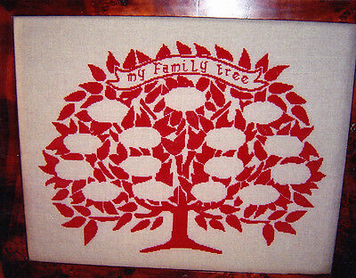 CLEARANCE - My Family Tree - single color cross stitch chart - Rovaris