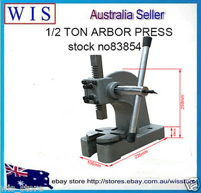 "1/2"" Ton Cast Iron Arbor Press, 3"" Height Arbor Press,Heavy Duty-83854"