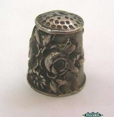 Fine Vintage Continental 925 Sterling Silver Thimble