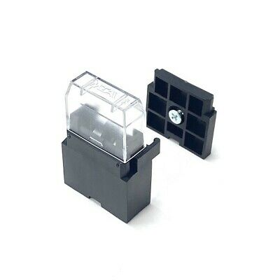 In-line Automotive Blade Fuse Holder & Cover - With Mounting Plate