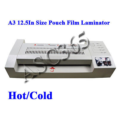 "New Upgrade 12.5""Thermal Hot Cold 4Roll Pouch Film Laminating Machine Laminator"