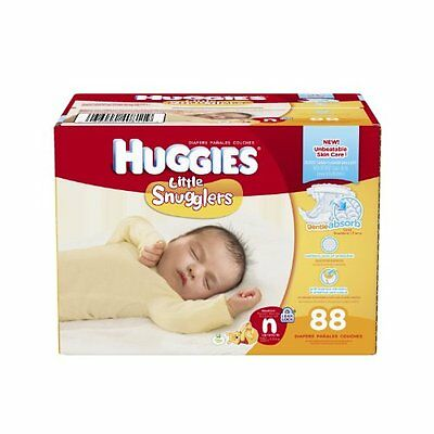 Baby Count 88 Huggies Little Snugglers Diapers Newborn Packaging May Vary New Nu