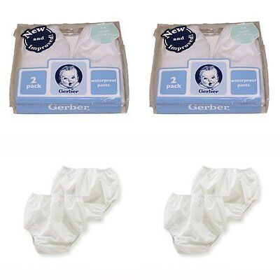 Baby Gerber Plastic Pants 0-3 Months Fits Up To 12 Lbs 4 Pairs New Gift  Gi