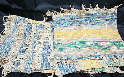 Vintage set of 6 + 1 woven ethnic table mats - shabby chic