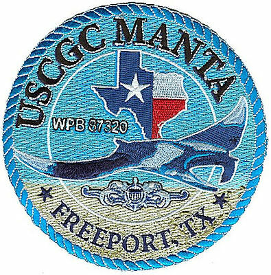 USCGC MANTA Freeport Texas ray W4712 USCG Coast Guard patch