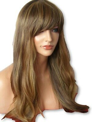 Brown Blonde Wig Long Wavy party cosplay Natural women Ladies Hair Wig C25