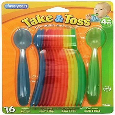 Baby The First Years 16 Piece Take & Toss Infant Spoons New Gift