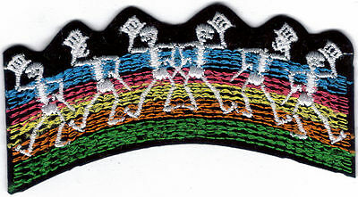 Grateful Dead Dancing Skeletons With Tophat Embroidered Patch !