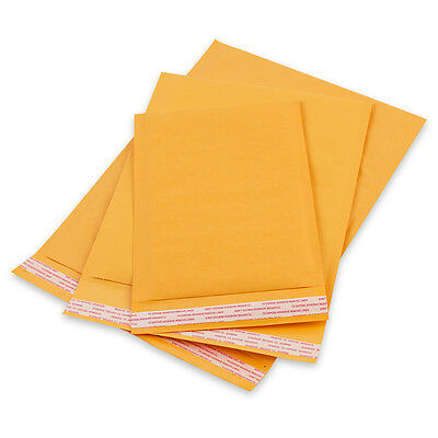 50 #1 Kraft Bubble Padded Envelopes Mailers Self Seal Shipping Bags 7.25x12