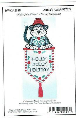 CARDINAL  CHRISTMAS  STOCKING Wall Hanging  plastic canvas PATTERN  7ct #541