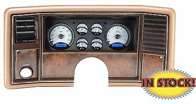 Dakota Dightal 1978-88 Chevy Monte Carlo Gauge Kit Silver / Blue VHX-78C-MC-S-B