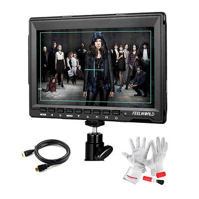 """Feelworld 7"""" FW759 LCD Video Monitor 1280x800 HDMI Display for DSLR Camera+Gift"""
