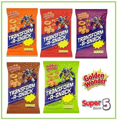 Golden Wonder Transform A Snacks 28g Case of 36 packs  (Choose Flavour) CHEAPEST