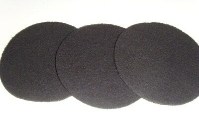 3 x Eheim Classic 2217 External Carbon Filter Foam Pads Black (2628170)