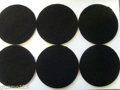 6 x Eheim Compatible 2217 External Carbon Filter Foam Pads Black (2628170)