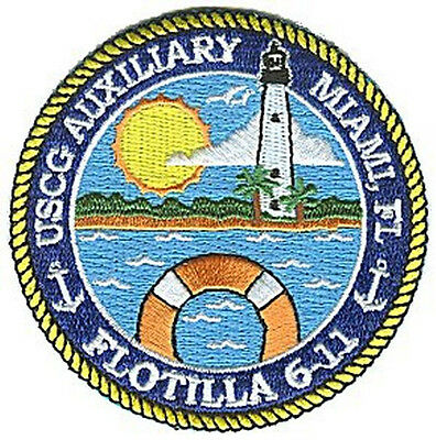 Auxiliary Flotilla 6-11 Miami Florida W4711 USCG Coast Guard patch small color