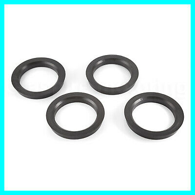 4 Hub Centric Rings 66.6mm to 57.1mm | Hubcentric Ring 66.56 - 57 fits AUDI