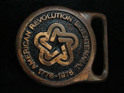 Oa05117 Vintage 1976 **american Revolution Bicentennial** Solid Brass Buckle