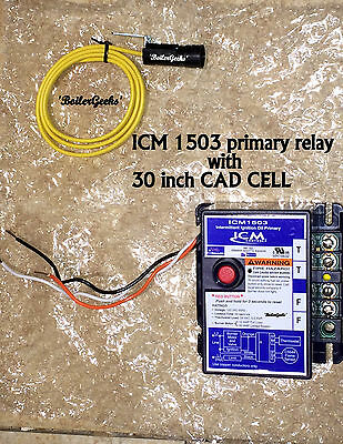 "ICM1503 Oil Burner Primary Control  WITH 30"" CAD CELL complete"