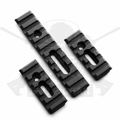 Black Handguard Forend Slotted 20mm 1913 Picatinny Weaver Rail Section 3pcs Set