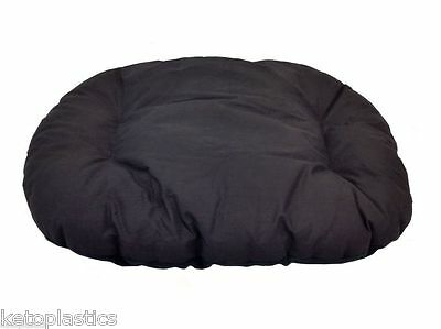New!!! Xl / Extra Large Black Fleece Dog /  Cat Bed Cushion For Bottom Of Basket